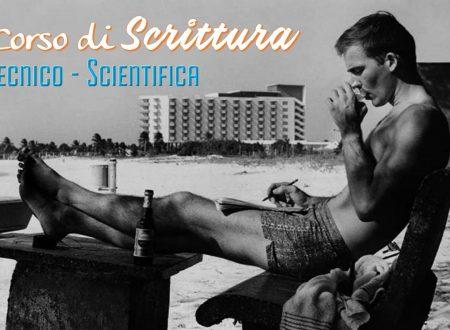 corso di Scrittura Tecnico-Scientifica, si comincia!